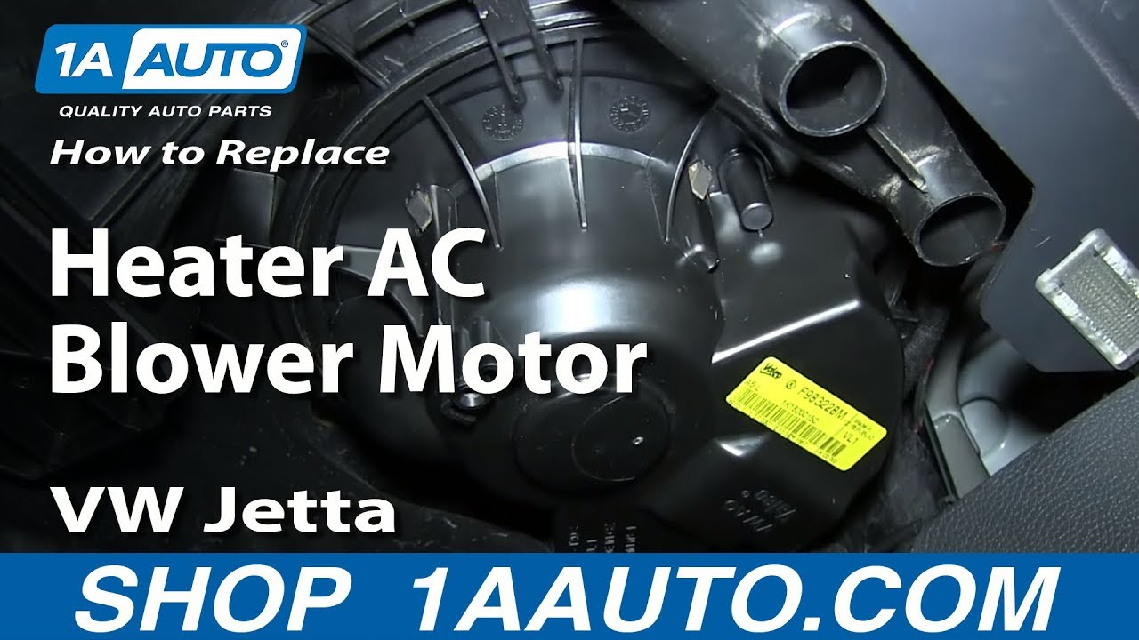 How To Install Replace Heater AC Blower Motor 200513 Volkwagen VW Jetta Golf Passat  YouTube