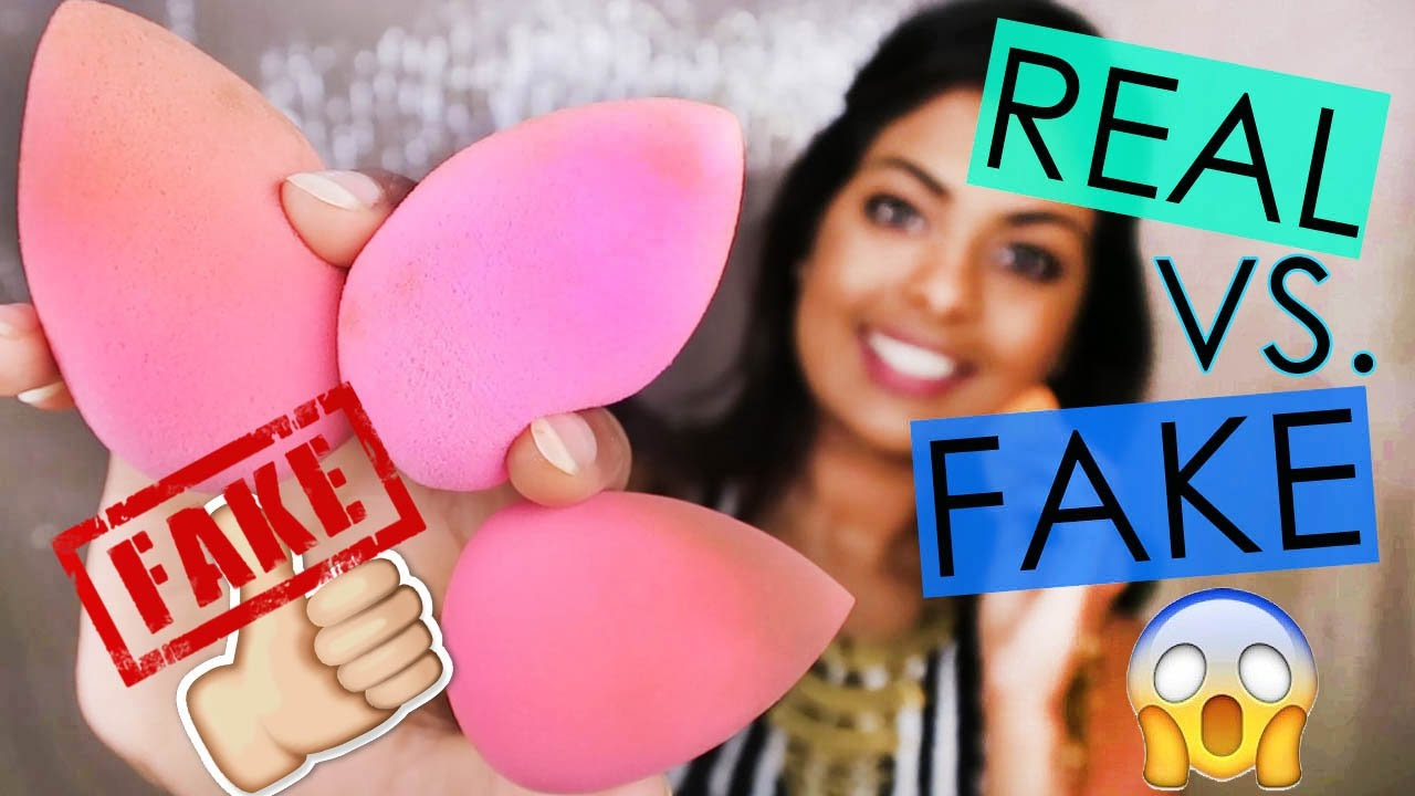 real vs fake beauty blender should you buy the real beauty