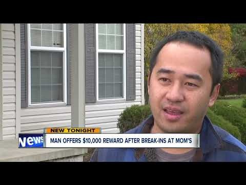Medina man offers $10,000 of his own money as reward to capture burglars targeting his mom