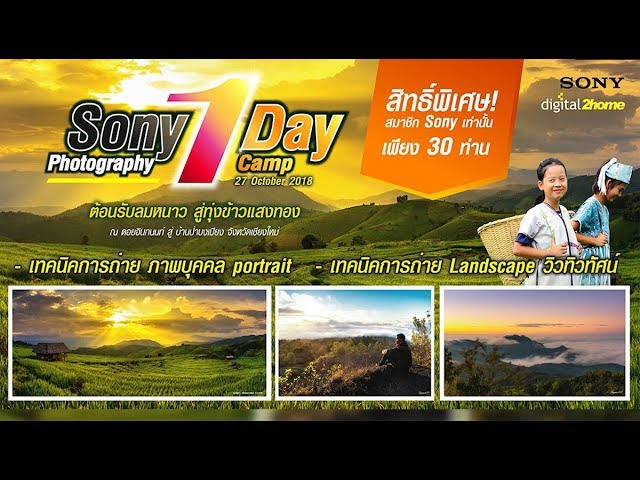 Sony Photography by digital2home 1 Day Camp ต้อนรับลมหนาวสู่ทุ่งข้าวแสงทอง