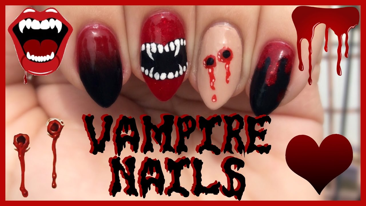 Ombr vampire fangs bite marks blood nail art tutorial ombr vampire fangs bite marks blood nail art tutorial halloween nails prinsesfo Choice Image