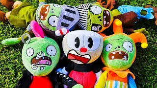 Cuphead Plush - Cuphead vs Zombies || Will Cuphead Survive?