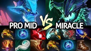 MIRACLE [Outworld Devourer] Monster Rampage Against Pro Leshrac Mid 7.23 Dota 2