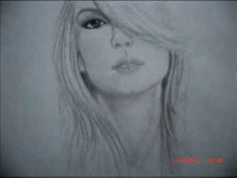 drawing of taylor swift with straight