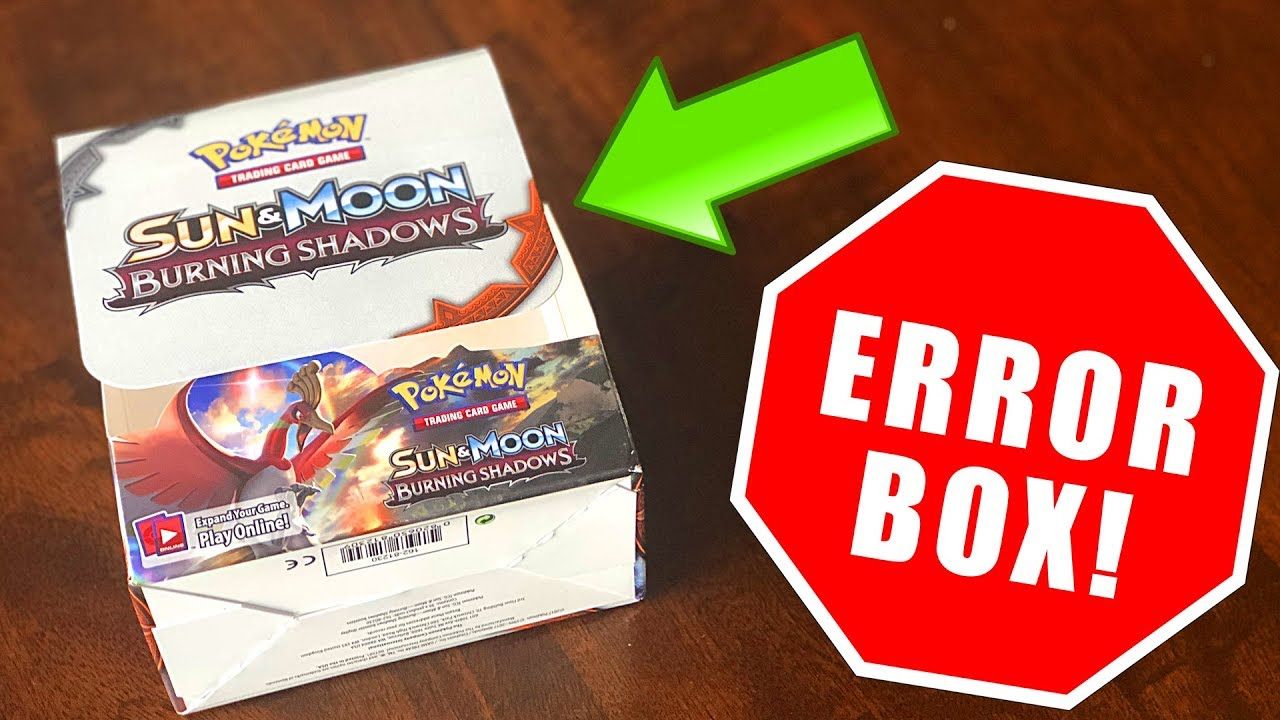 OPENING A *ERROR* POKEMON CARDS BOOSTER BOX! (insane)
