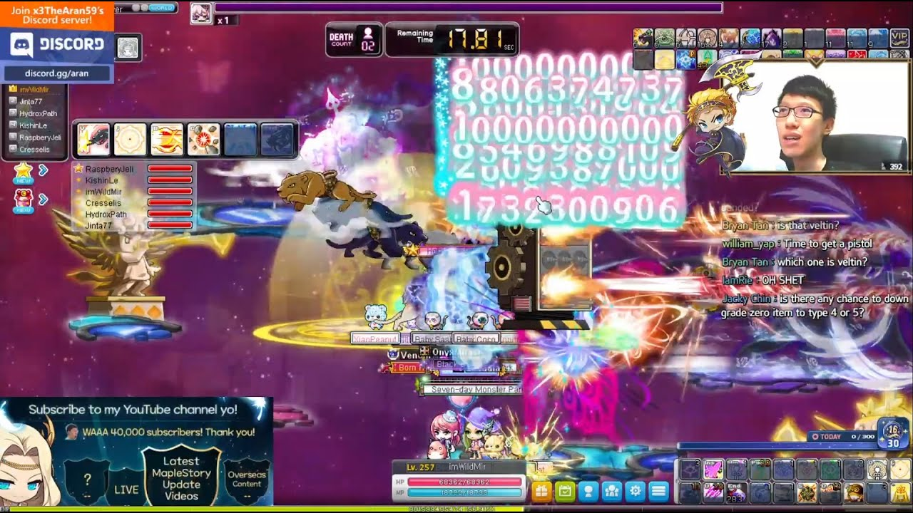kms bossing then msea bossinggg (29 apr today is maplestory birthday)