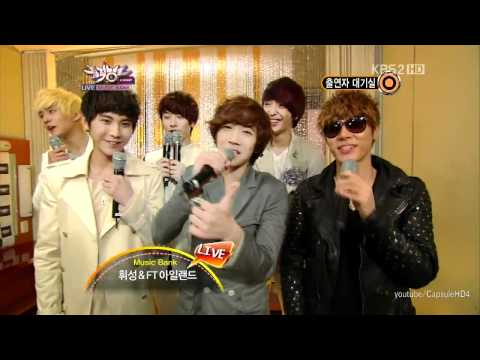 [Live HD 720p] 111014 - FT Island, Wheesung - Back stage - Music Bank.mp4