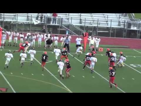 Matthew Bauer Football Highlight 8th Grade 2013