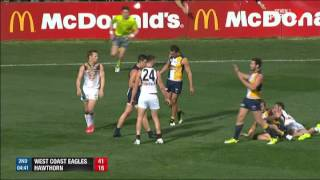 Week One 2015 AFL Finals - West Coast v Hawthorn Highlights