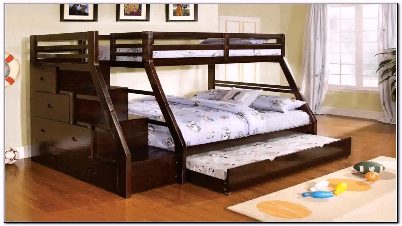 Diy Twin Over Queen Bunk Bed Plans Youtube