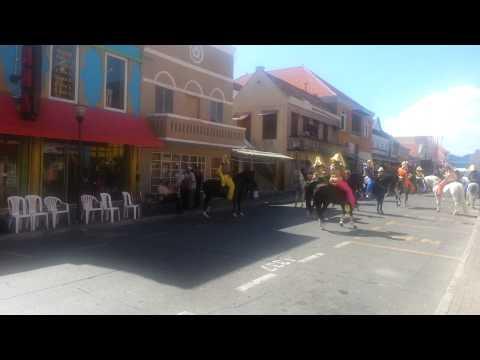 Carnival horse parade in Curacao
