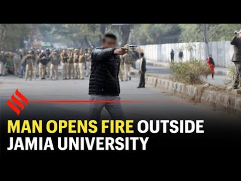 Breaking news: Jamia student shot at during anti-CAA protest march