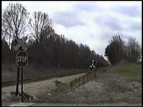 Railfanning Illinois Central and Amtrak near Jackson,MS March 2000