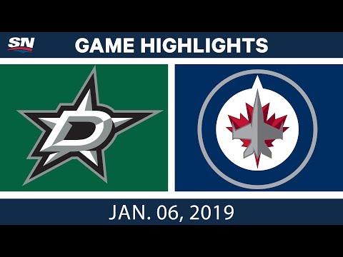 NHL Highlights | Stars vs. Jets- Jan. 6, 2019