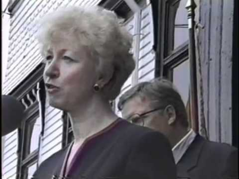 Lunenburg has a Visit from Prime Minister  Kim Campbell 1993