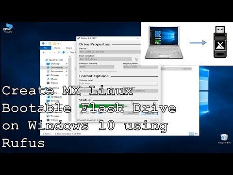 Create MX Linux Flash Drive on Windows 10 using Rufus