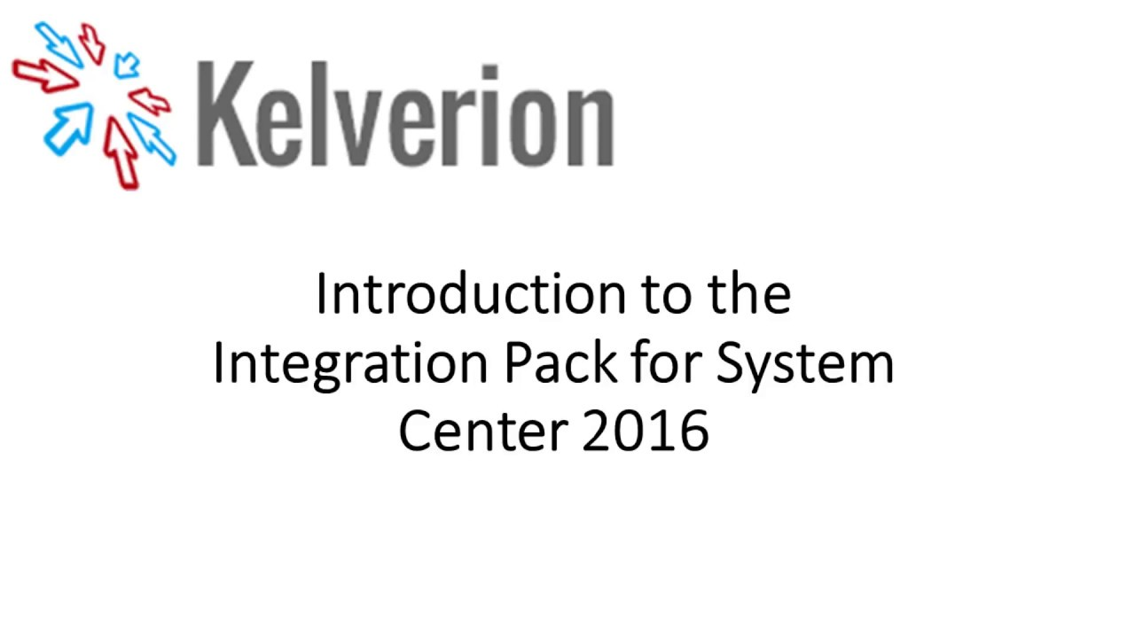 Intoduction to the Integration Pack for System Center 2016