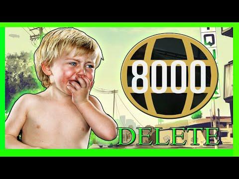 GTA 5 Level 8000 Delete Characters Trolling Online Part 2 (OMG)