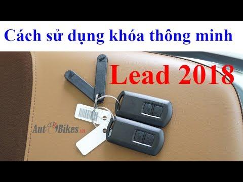 Cách sử dụng khóa thông minh xe Lead 2018