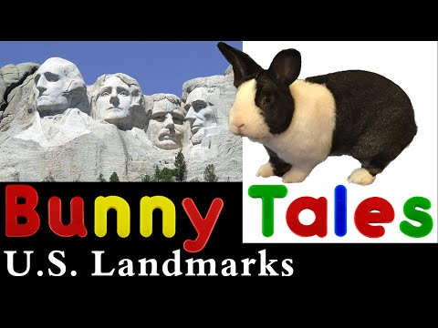 Kid Friendly BUNNY TALES - U.S. Landmarks - Child Friendly Discovery of the Unites States with Bunny