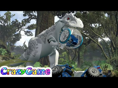 #LEGO Jurassic World 100% Guide #12 Gyrosphere Valley (Minikits, Ankylosaurus)