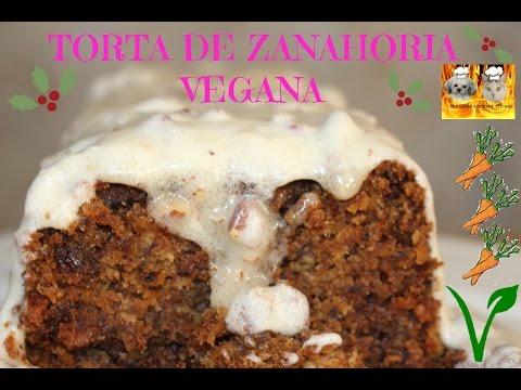 Torta de zanahoria (Receta vegana)
