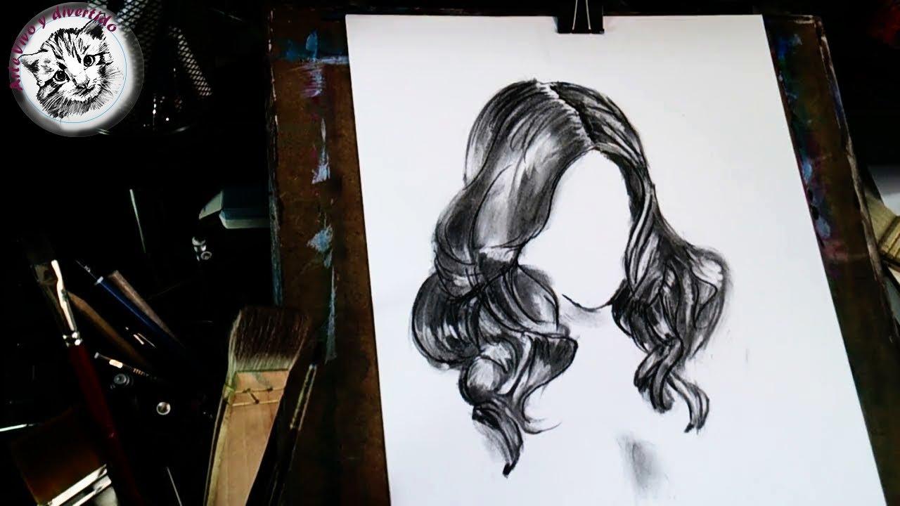 como dibujar pelo de chica realista f cil paso a paso