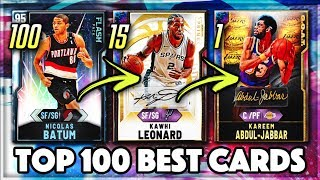 TOP 100 BEST CARDS IN NBA 2K20 MyTEAM!!