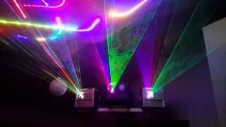 Homemade laser projectors running in auto-DMX mode