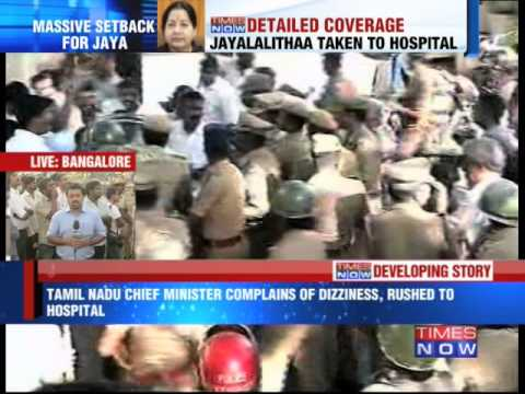 Tamil Nadu CM J Jayalalithaa rushed to hospital
