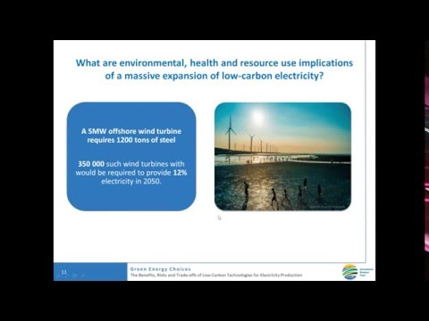 Green Energy Choices  An Environmental Assessment of Low Carbon Electricity