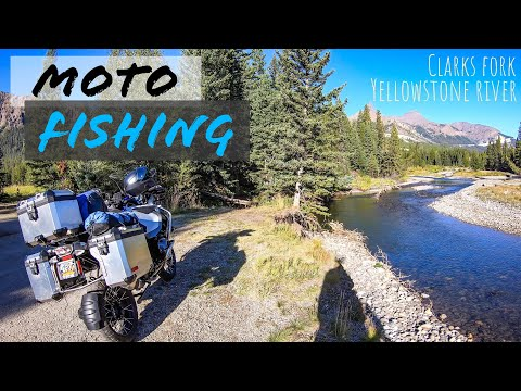 🎣 Motorcycle Fishing 🏍 | Clark Fork, Yellowstone River | BMW R1200GS Adventure | Moto Fishing 3