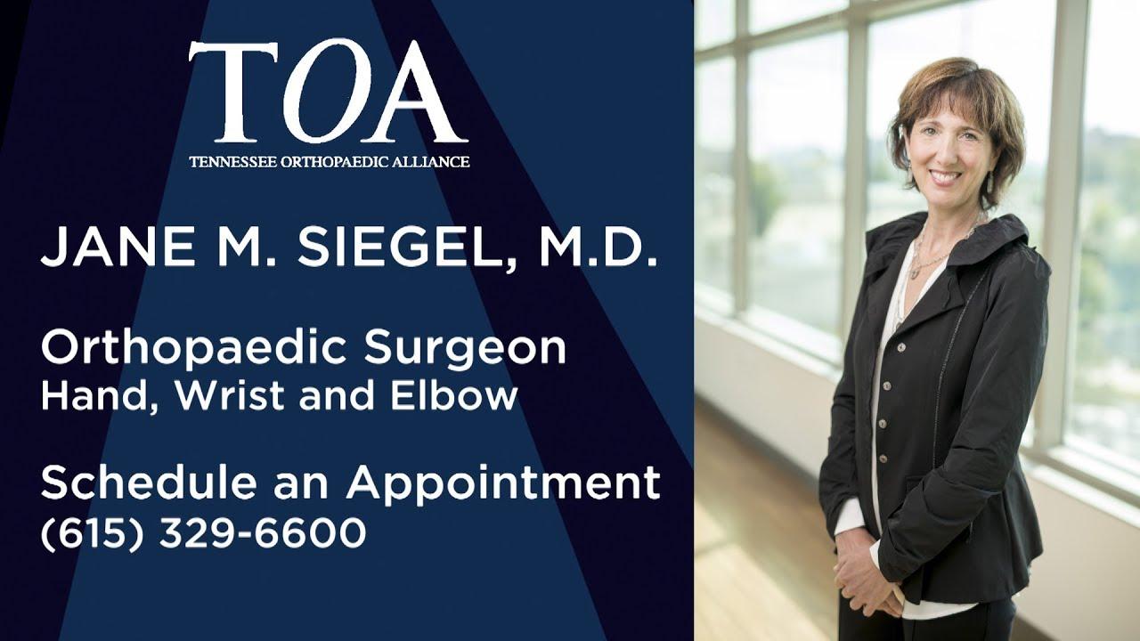 Jane Siegel, MD - Orthopaedic Surgeon -- TOA