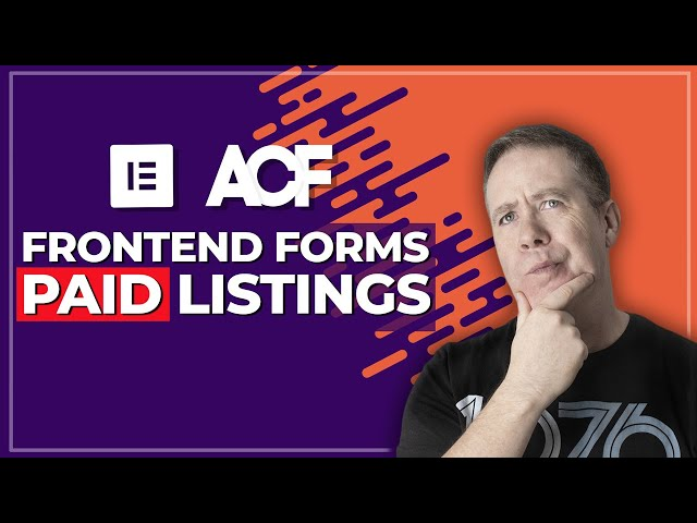 ACF Frontend Form Pro - Pay To Add Listings - NEW FEATURE (Beta)