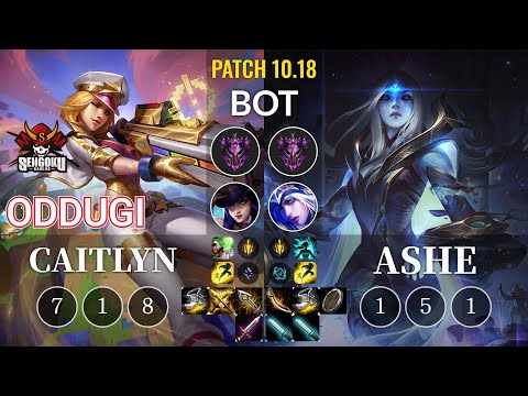 SG OdduGi Caitlyn vs Ashe Bot - KR Patch 10.18