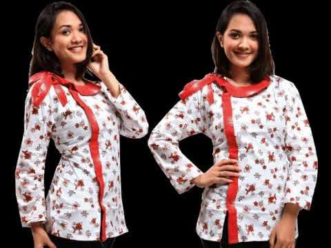 Model Baju Batik Kantor Lengan Panjang Wanita Modern Youtube