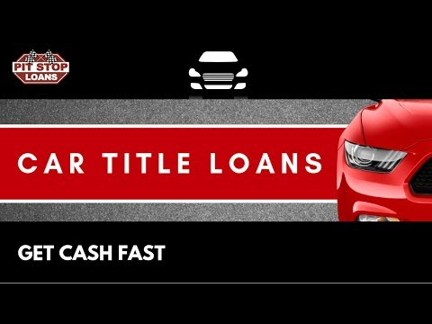 Quick Car Title Loans Canada | Car Collateral Loans | Pit Stop Loans