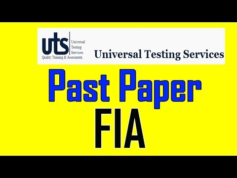 FIA Papers Answer Key    UTS FIA ASI Papers Question and