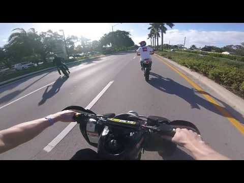 EPIC CHASE AND GETAWAY IN MIAMI MLK 2019 RIDEOUT X REAL BIKELIFE ONLY