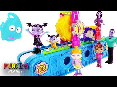 Vampirina & Paw Patrol Visit Play Doh Mega Fun Factory Playset to Collect Surprise Toys
