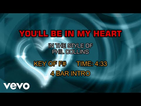 Phil Collins - You'll Be In My Heart (Karaoke)