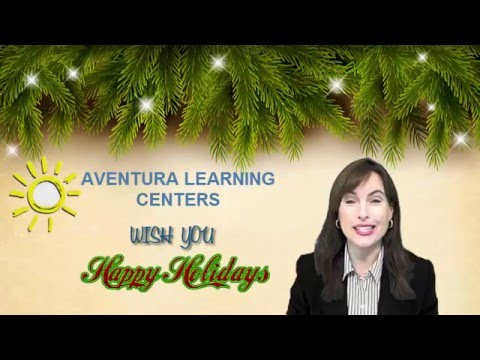 Holiday Greetings Aventura Learning Centers