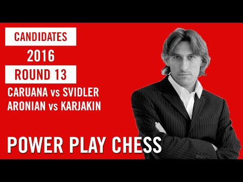 Candidates Moscow 2016 Round 13 Caruana Vs Svidler And Aronian Vs Karjakin