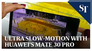 Ultra slow-motion with Huawei's Mate 30 Pro | The Straits Times