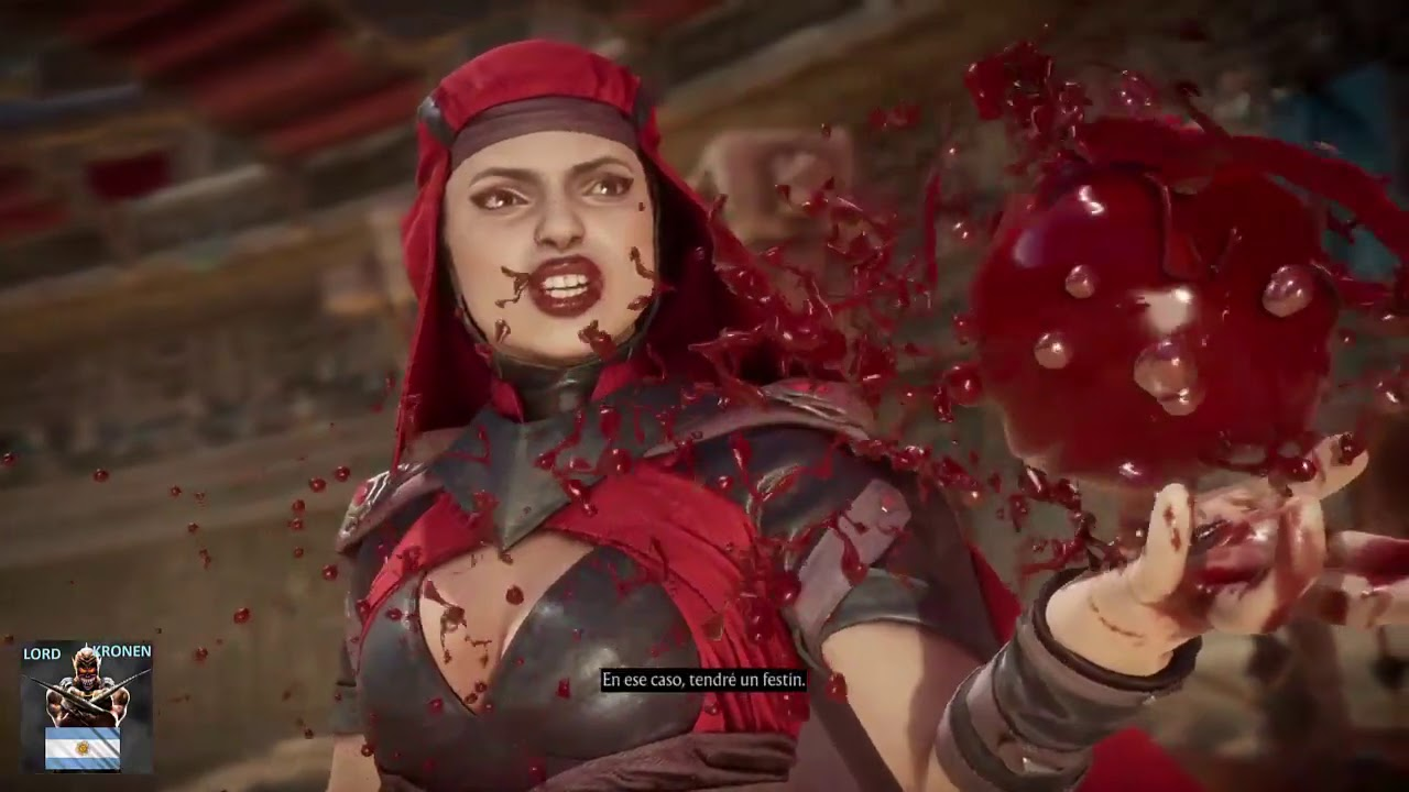 Mortal Kombat 11  Skarlet  todo los Diálogos  Español latino