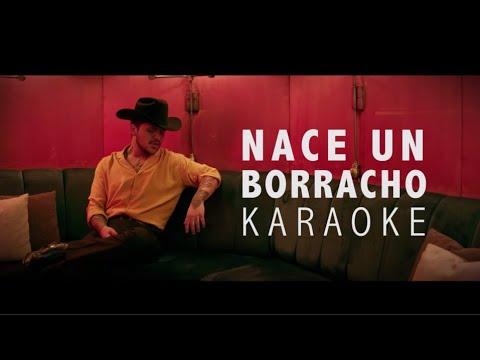 Christian Nodal – Nace Un Borracho (KARAOKE ACÚSTICO)