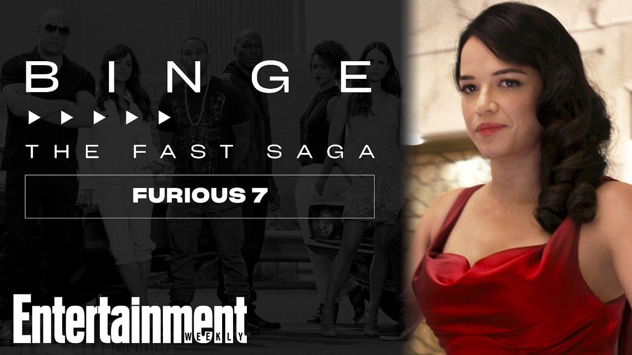 Michelle Rodriguez Reflects on 'Furious 7' Impact | EW's Binge