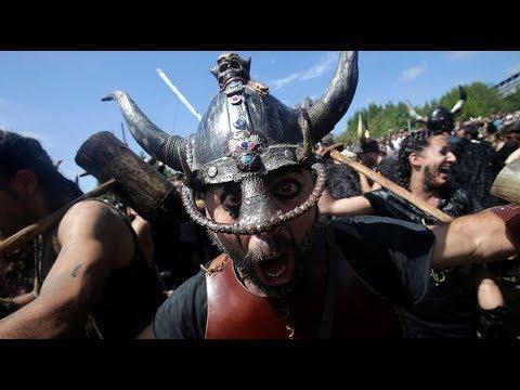 Viking invasion reenactment at annual Spanish Festival (streamed live)