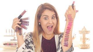 Coleção completa INGLOT - HD Lip Tint Matte - REVIEW + Lip Swatches | Sara Ferreira