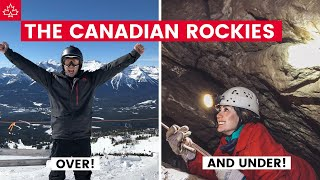 CAVING and SKIING in the CANADIAN ROCKIES! (Things To Do in Canmore)